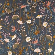 Image de Flower Field - M - Sergé Gabardine de Coton - Blue Nuit
