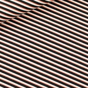 Picture of Diagonals - M - Cotton Canvas Gabardine Twill - Black & White & Copper