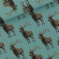 Afbeelding van Deer - M - French Terry - Trellis Blauw