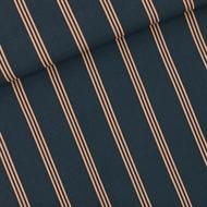 Afbeelding van Three Lines Peach - M - Viscose Rayon - India Inktblauw